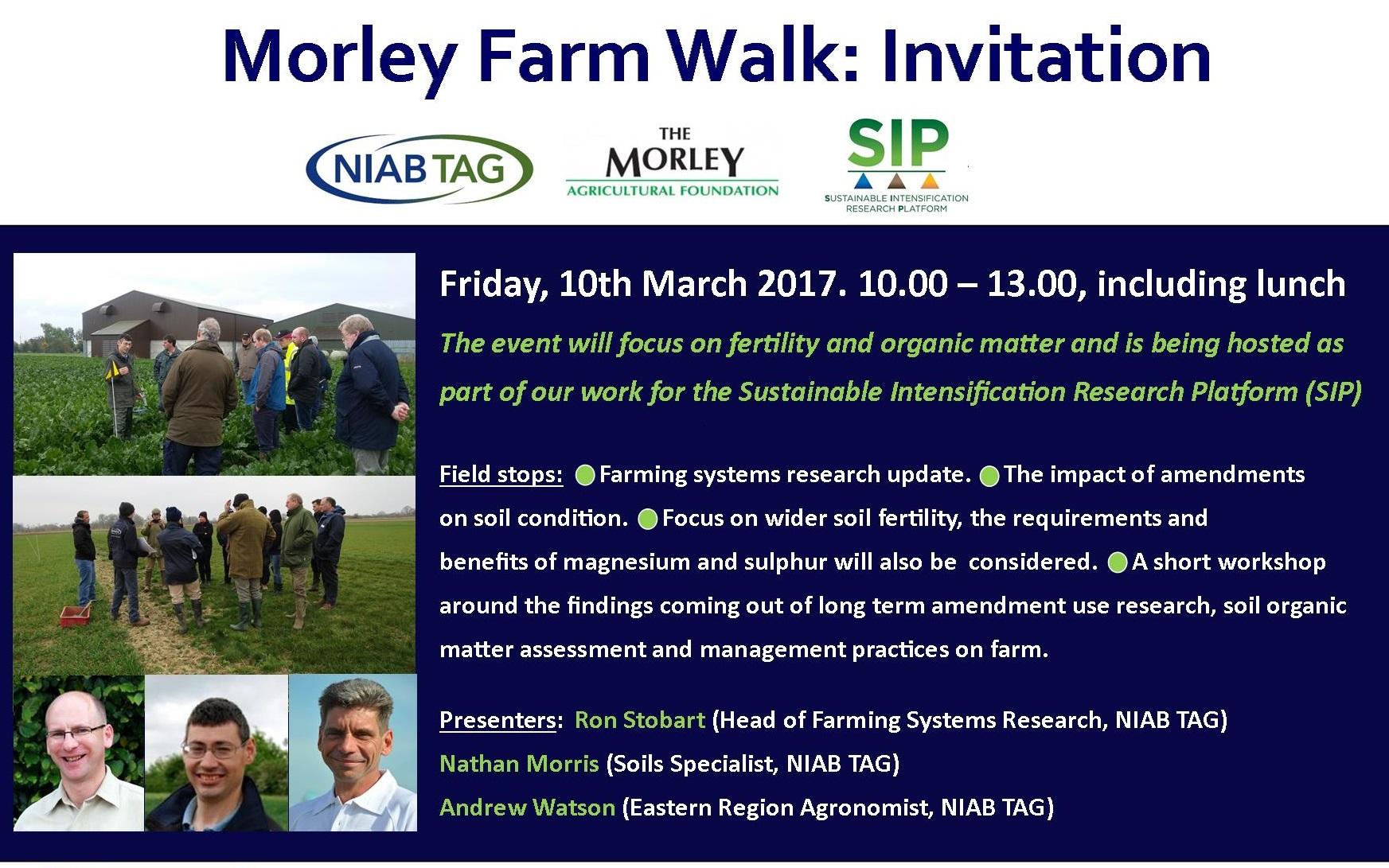 Morley Farm Walk   Sustainable Intensification